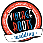vintage roots wedding logo